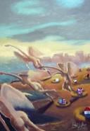 Picturi surrealism Exod feminin