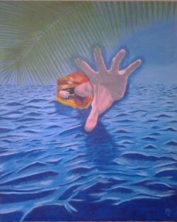 Picturi surrealism Escape from routine