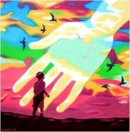 Picturi surrealism Azi l-am intalnit pe dumnezeu!-today i meet god!