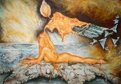 Picturi surrealism Flacara pasiunii