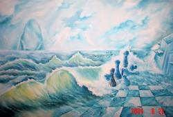 Picturi surrealism Jocul de sah