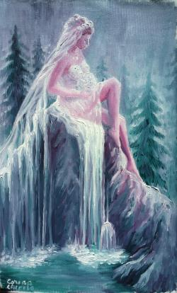 Picturi surrealism Legenda cascadei valul miresei