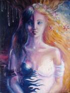 Picturi surrealism Persephona sau kore, o zeita cu doua fete