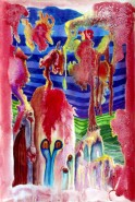 Picturi surrealism Taurul, calul, copacul si ingerul