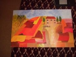 Picturi surrealism Peisaj toscan
