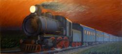 Picturi surrealism Trenul vieÈ›ii