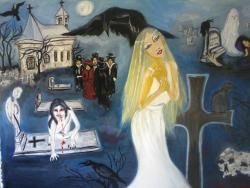 Picturi surrealism noaptea mortilor vii cod 121