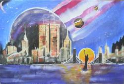 Picturi surrealism galaxi