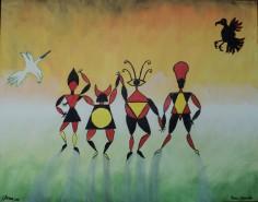 Picturi surrealism Dans cromatic