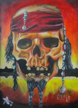 Picturi surrealism Pirate Skull