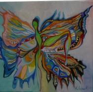 Picturi surrealism Fluturele