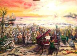 Picturi surrealism Concert la malul marii