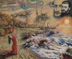 Picturi surrealism Incantatie la malul marii