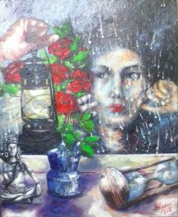 Picturi surrealism Straina din noapte