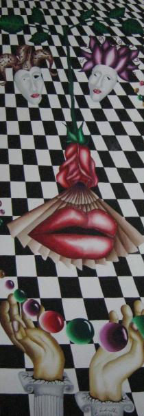 Picturi surrealism Carnaval venetian