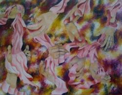 Picturi surrealism Combinatie de maini