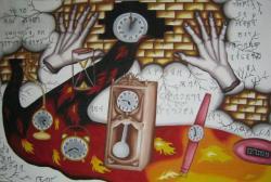Picturi surrealism Opriti timpul