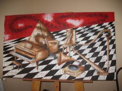 Picturi surrealism Puzzel muzical
