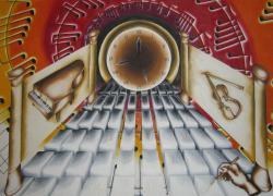 Picturi surrealism Simfonia timpului