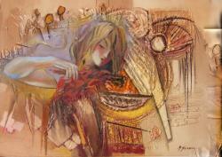 Picturi surrealism chemarea sunetului  -m005