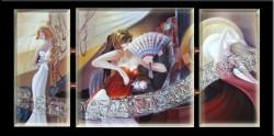 Picturi surrealism Danseaza in straie lunare---90