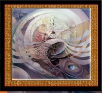 Picturi surrealism In mijlocul tornadei--196
