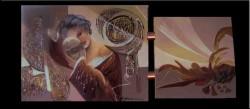 Picturi surrealism Masca e iluzie chipul e adevarul--95