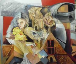 Picturi surrealism parfum cu miros de spin--m055