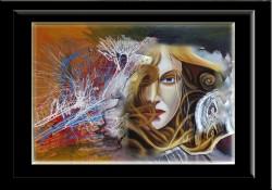 Picturi surrealism Privire sceptica--171