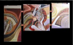 Picturi surrealism Sarutul s-a topit--96