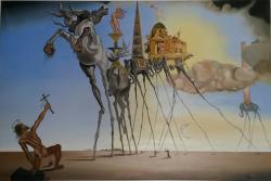 Picturi surrealism la tentación de san antonio