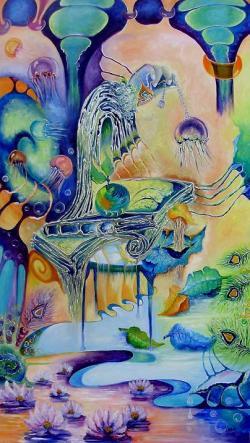 Picturi surrealism Bijutierul si meduza