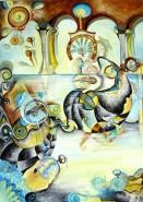 Picturi surrealism Ceasornicarul de pe champs elyees