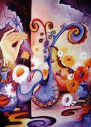 Picturi surrealism Lectia de vioara