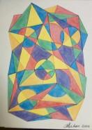 Picturi surrealism Forme geometrice 2