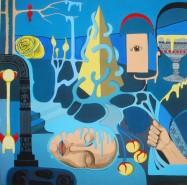 Picturi surrealism Albastru