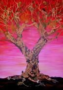 Picturi surrealism Love tree
