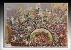Picturi surrealism Ploaie cu stele--217