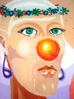 Picturi surrealism Mireasa Clovn