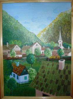 Picturi surrealism Peisaj Montan
