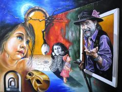 Picturi surrealism A Gipsy Tale
