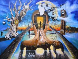Picturi surrealism A Moment At The Edge of Time