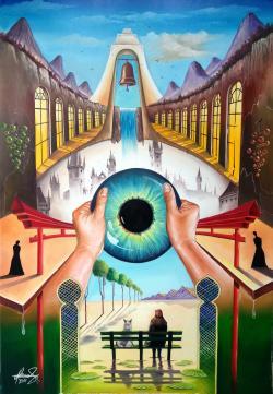 Picturi surrealism Behind empty eyes