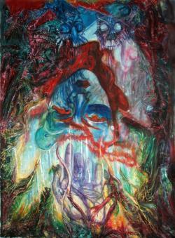 Picturi surrealism Alice in Wonderland