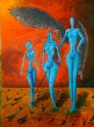 Picturi surrealism Cele trei gratii