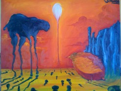 Picturi surrealism Lumina eternitatii