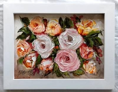 """titlu"""" Trandafiri serena 1"""" , ulei pe"""